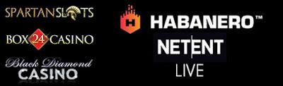 Play Netent & Habanero Games At Spartan Slots, Box 24, Black Diamond Casinos