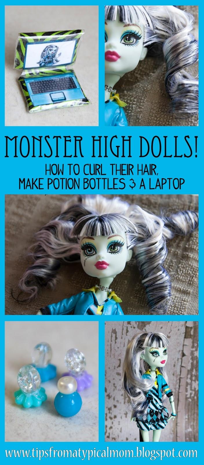 Monster High Dolls Tutorials Curl Hair Make A Laptop