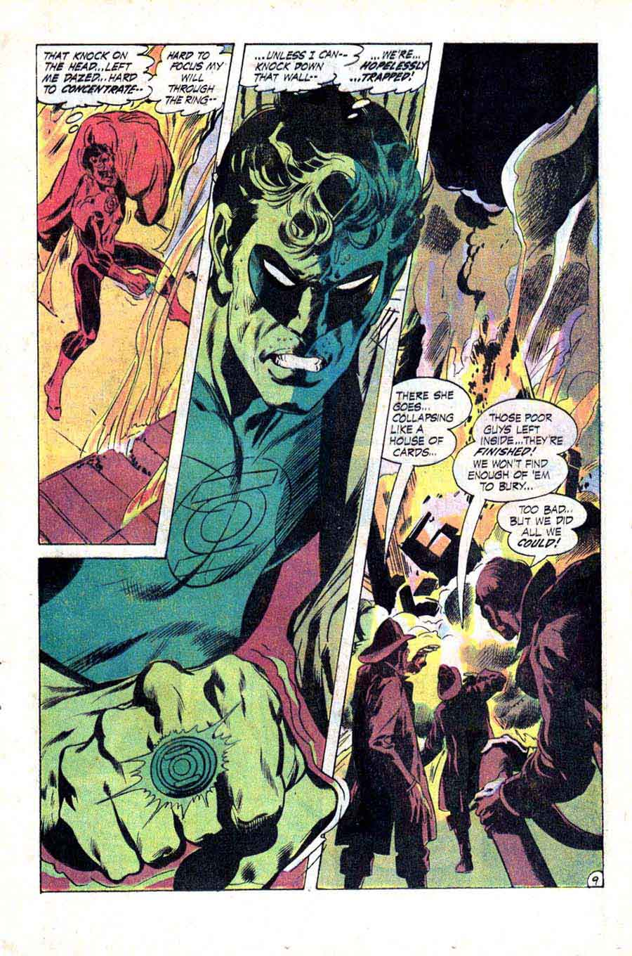Green Lantern Green Arrow #79 dc comic book page art by Neal Adams