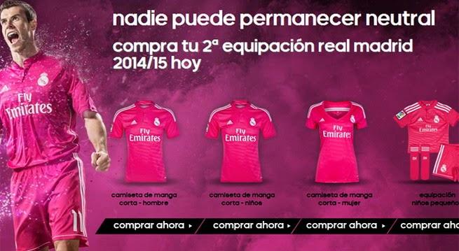 La camiseta Real Madrid rosa está haciendo furor entre los aficionados del  equipo blanco 98d92efe08456