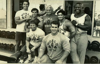 Arnold Schwarzenegger with friends