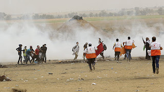 Over 100 Palestinians were injured at the border of the Gaza Strip