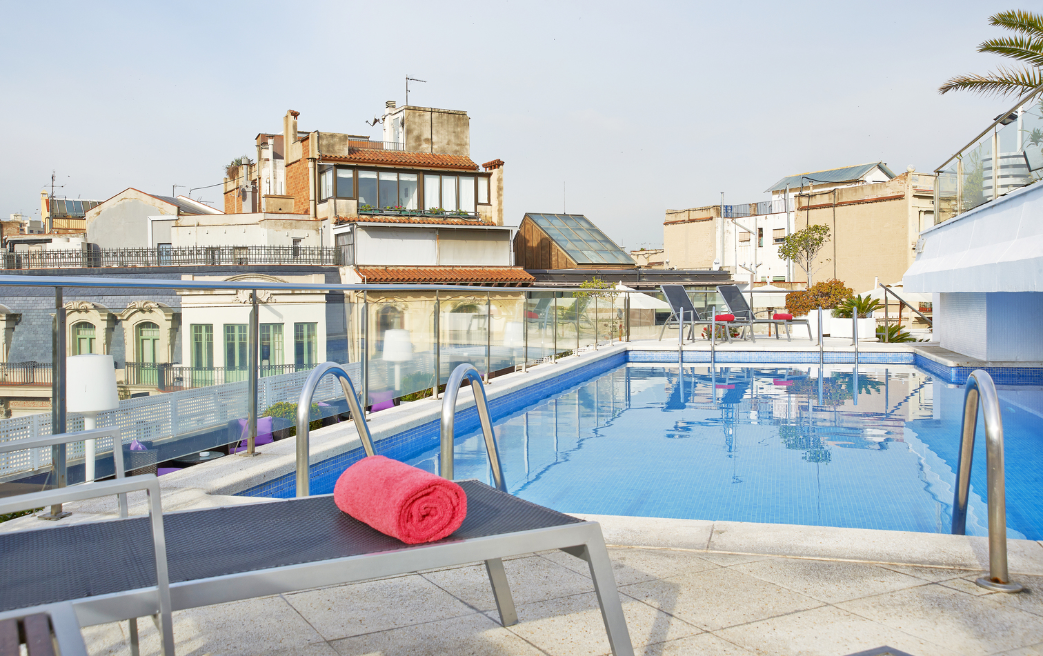 rooftop pool at NH Collection Barcelona Podium hotel