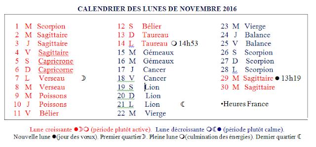 Horomag calendrier lune de novembre - Calendrier lunaire novembre 2016 ...