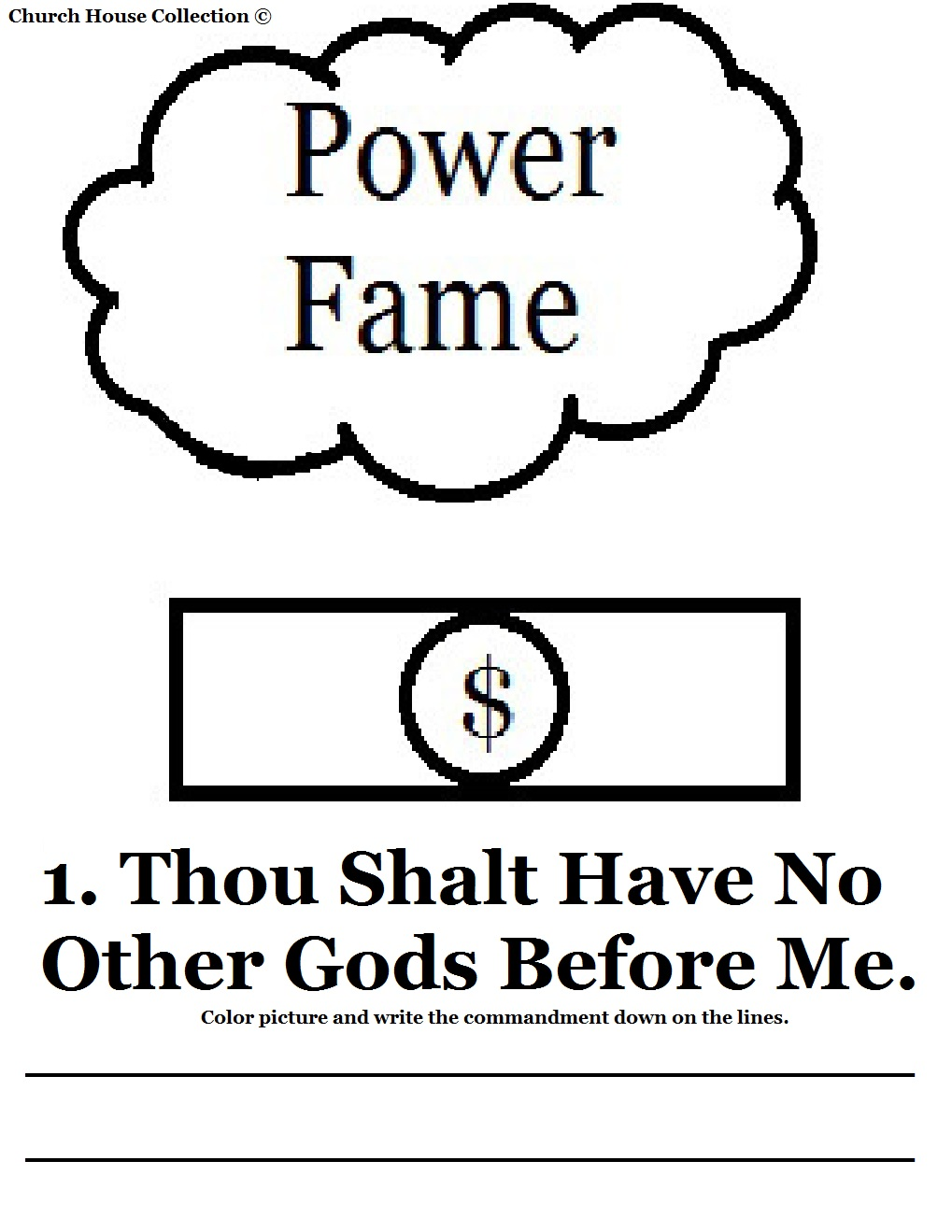 coloring pages for 1st commandment - photo#4