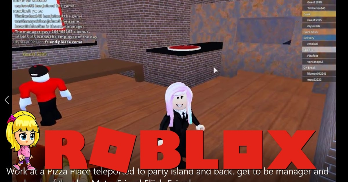 Chloe Tuber Roblox Work At A Pizza Place Gameplay Get To Be