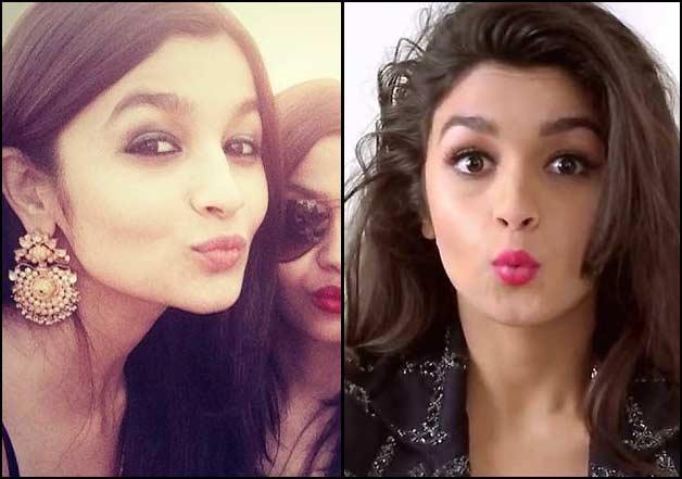 alia bhatt sweet selfie pic