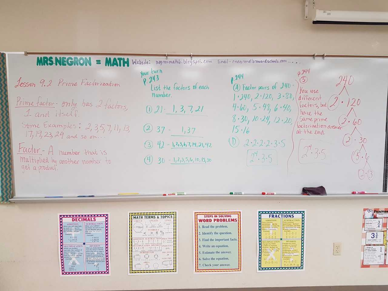 Mrs Negron 6th Grade Math Class Lesson 9 2 Prime