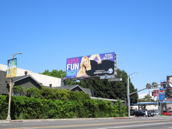 Super Fun Night season 1 billboard Sunset Boulevard