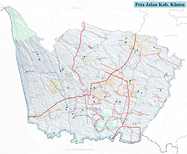 Peta Kabupaten Klaten HD