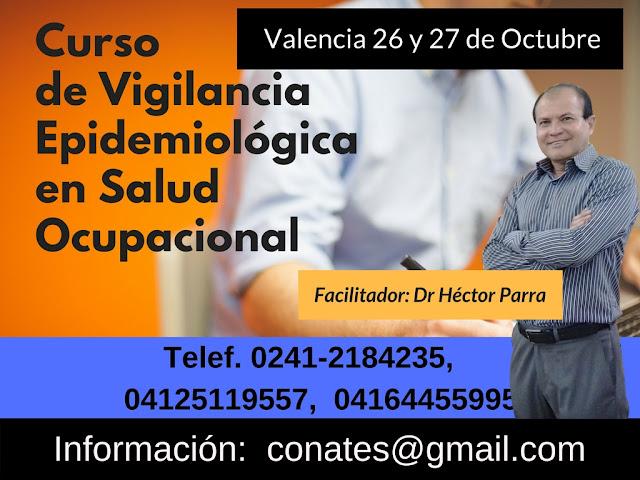 Curso de Vigilancia Epidemiológica en Salud Ocupacional. Valencia 26 y 27 de Octubre
