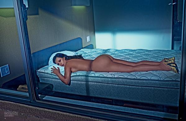 Kim Kardashian poses for LOVE Magazine's Spring/Summer 2015 issue