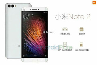Xiaomi Mi Note 2 Leaks Big Feature 4GB RAM + Snapdragon 820, and 6GB RAM + Snapdragon 821
