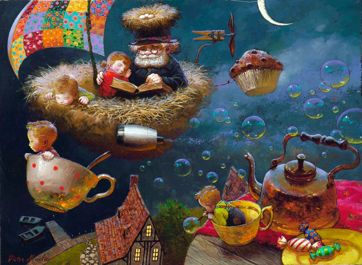 08-Journey-to-Sunrise-Victor-Nizovtsev-Daydreaming-with-Fantasy-Oil-Paintings-www-designstack-co