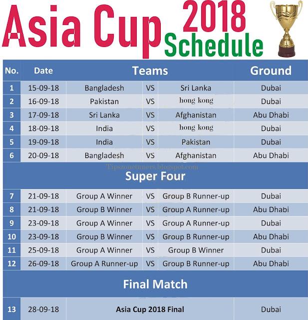 Asia cup , Asia cup 2018, Asia cup Match, Asia cup Schedule, Asia cup Match Schedule, Asia cup 2018 Match Date, Asia cup 2018 Match Venue, Asia cup 2018 Match Schedule, Asia cup 2018 Date and Venue, Asia cup 2018 Match Schedule, Date and Venue,