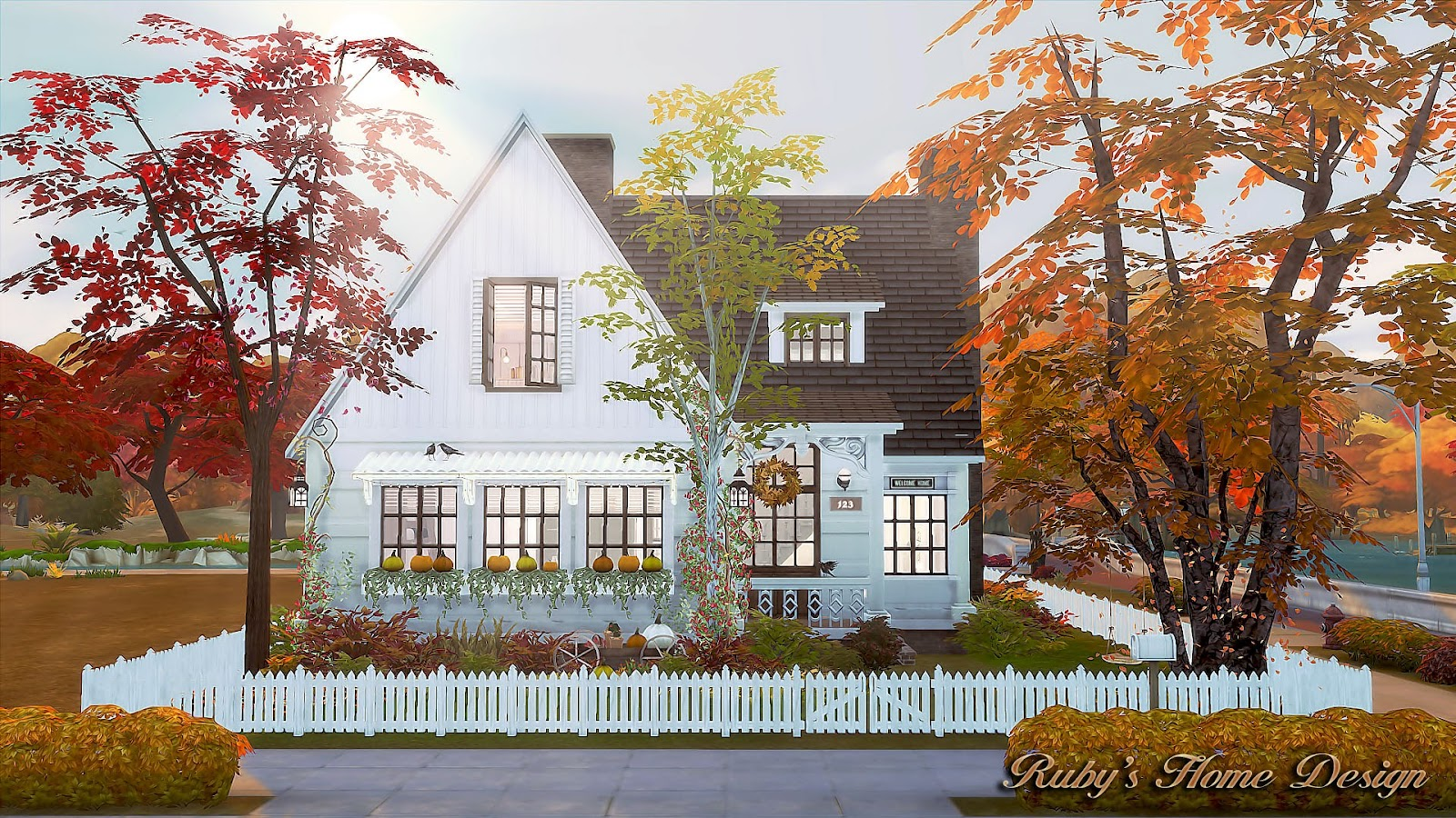 Small Homes Decor Sims4 Autumn Cottage 秋天的小屋 Ruby S Home Design