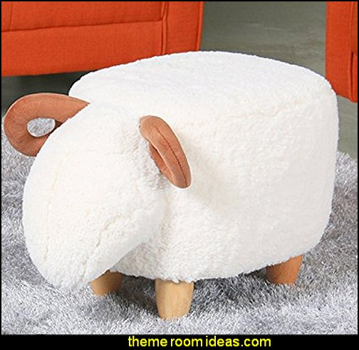 Sheep Ottoman Footrest  novelty furniture - unique furniture - fun gifts - unusual gifts - novelty lighting - unique furniture - fun decorations - uncommon furniture -  unique gifts - - online home furnishing shopping