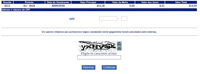 DARF para imposto de renda CPF