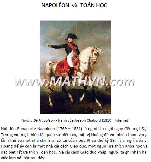 napoleon va toán học