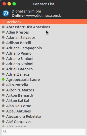 Lista de contatos Trillian