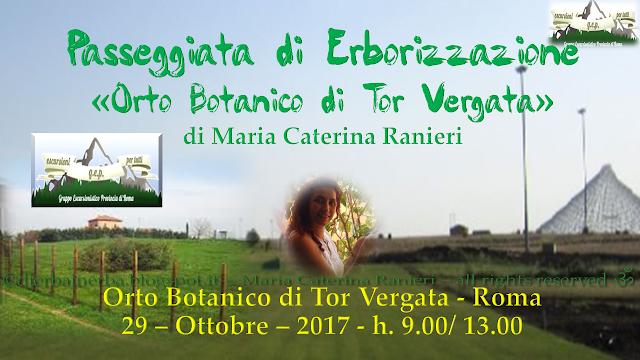 Passeggiata G.E.P. di Erborizzazione Tor Vergata – Roma 29 10 2017 - Maria Caterina Ranieri