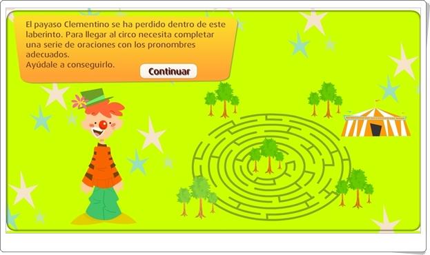 """""""Los pronombres"""" (Juego de Lengua Española de Primaria)"""