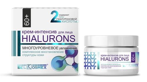 Крем-интенсив для лица 60+ Hialurons многоуровневое увлажнение комплексное восстановление структуры кожи