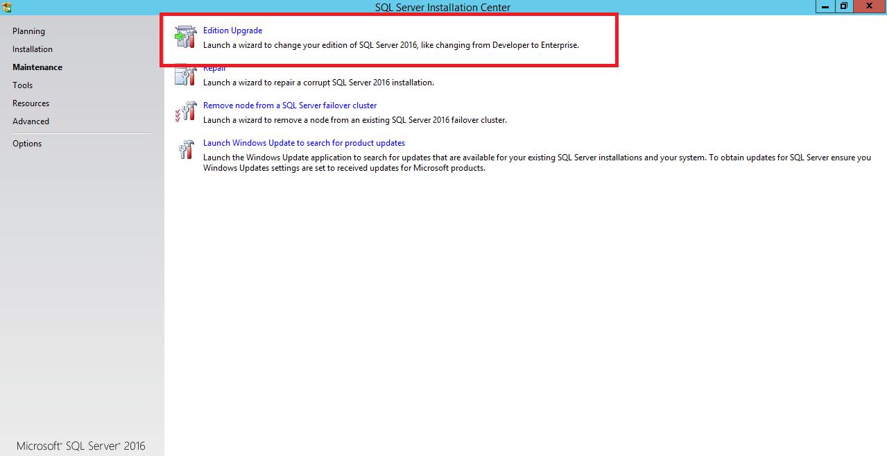 Upgrade SQL Server Evaluation edition to license Edition of SQL