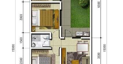 lingkar warna: denah rumah minimalis ukuran 6x15 meter 3