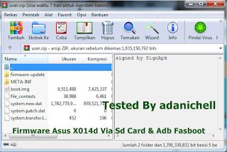 Firmware Asus X014d Via Sd Card & Adb Fasboot