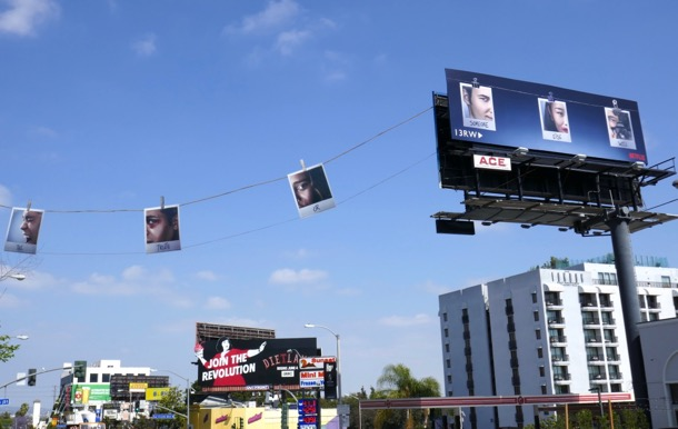 13RW season 2 polaroid billboard installation