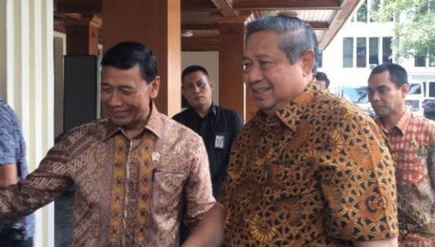 SBY Mendadak Sambangi Wiranto di Kantor Kemenko Polhukam