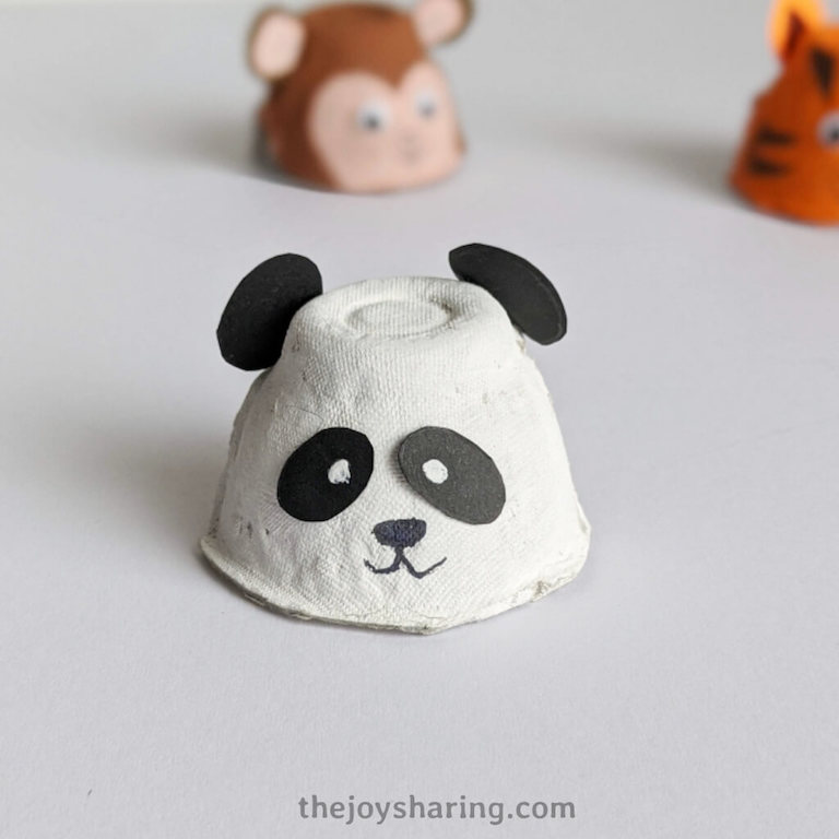 How to make panda craft using egg carton?