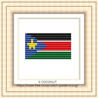 NATIONAL FLAG OF SOUTH SUDAN CROSS STITCH CHART