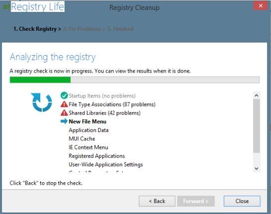 تحميل برنامج تصحيح اخطاء الريجيسترى وتنظيف الجهاز Registry Life