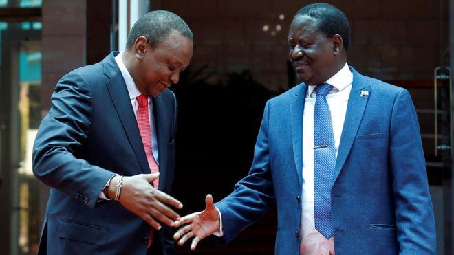 Kenya's Uhuru Kenyatta and Raila Odinga now 'brothers'