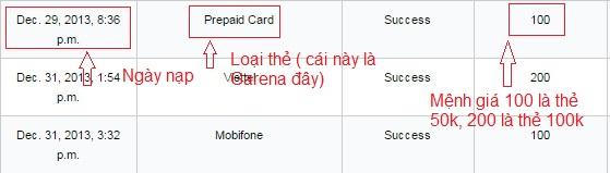 Thủ thuật check lịch sử nạp thẻ Garena - Dùng cho Xóa Mail, SĐT Garena