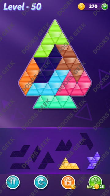 Block! Triangle Puzzle 7 Mania Level 50 Solution, Cheats, Walkthrough for Android, iPhone, iPad and iPod