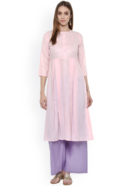 Light Pink Anarkali Kurti