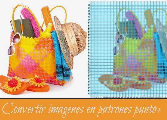 Convertir Imagenes para su posterior Labor en Bordado de Punto de Cruz. KnitPro