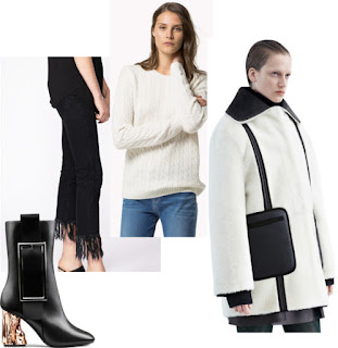 Ana Maddock- Retro Revival Look 3- Acne boots, 3x1 frayed jeans, Tommy Hilfiger cable knit jumper, Acne Landra coat