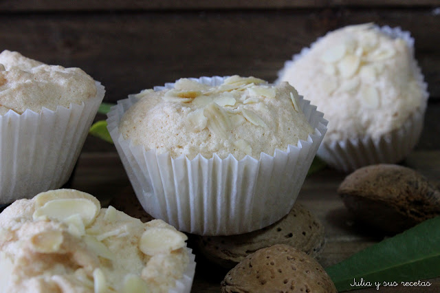 Cupcakes de almendra sin gluten