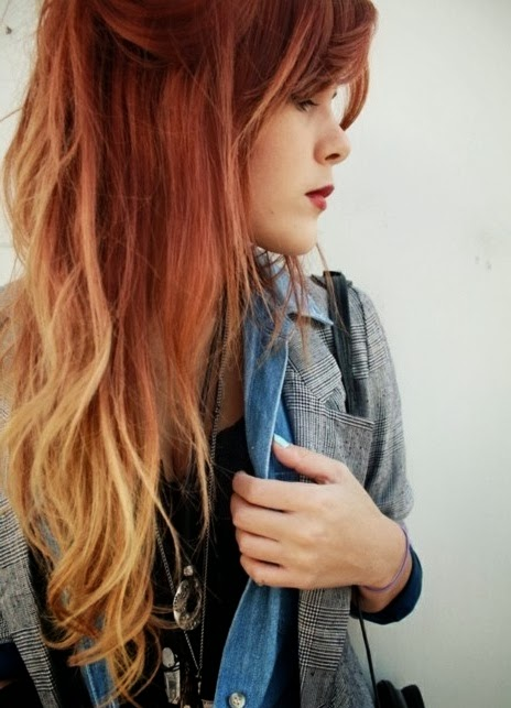 Red Hair With Blonde 90