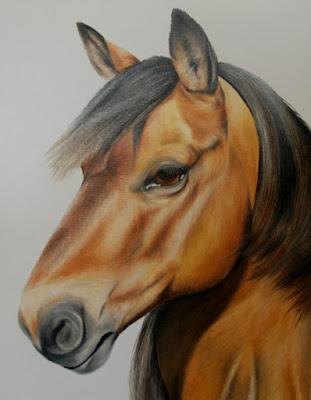 Horse Portrait Oil on Canvas
