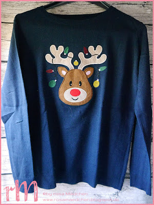 Stampin' Up! rosa Mädchen Kulmbach: Christmas Sweater Elch Primark