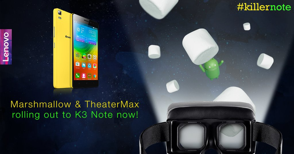 Lenovo K3 Note Android 6 0 Marshmallow Update with TheaterMax