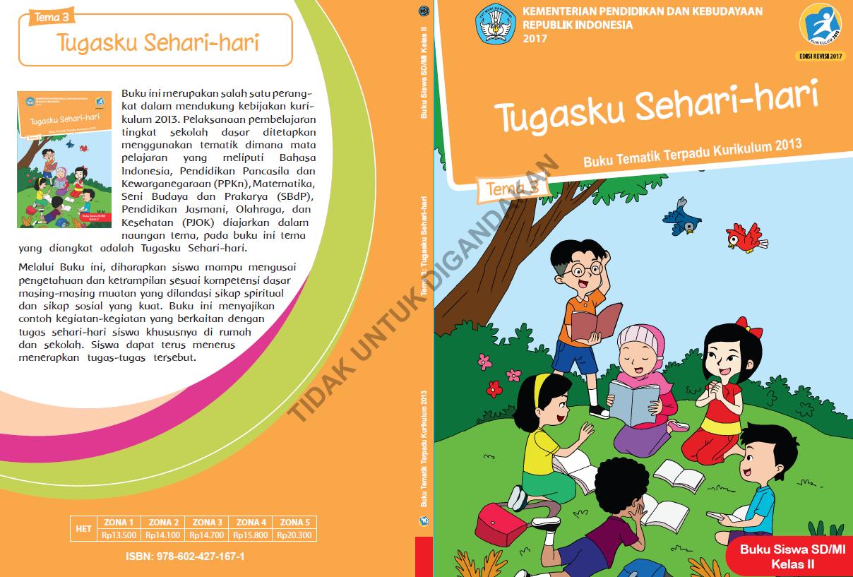 Buku Kelas 2 Kurikulum 2013 Revisi 2017 Guru Sekolah Dasar