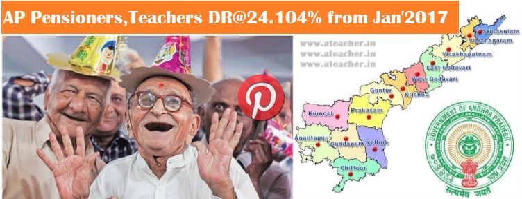 AP Pensioners,Retired Employees,Teachers DR@24.104% as per G.O.MS.No.28