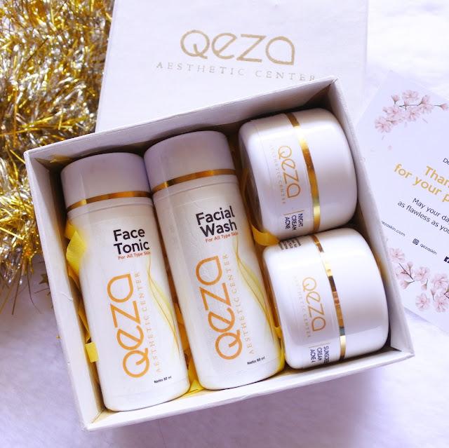 Skincare untuk kulit jerawat dibawah 200ribu - Qeza Acne Removal Series