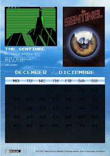 Calendario ZX Spectrum 2017 Mejores juegos hace 30 años
